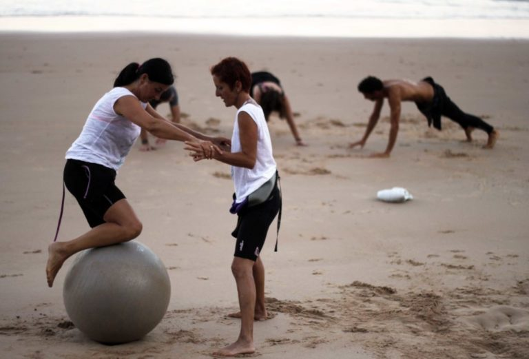 Beach Training sous forme de circuit training